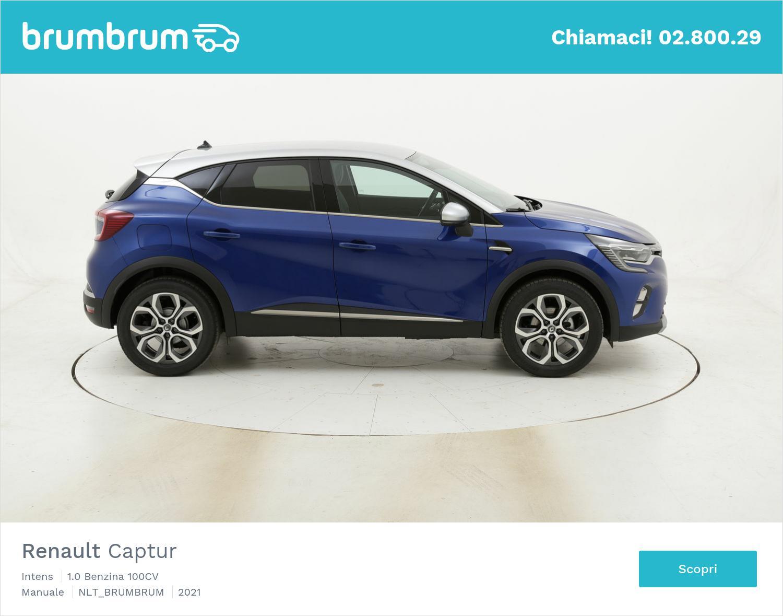 Renault Captur Intens benzina blu a noleggio a lungo termine | brumbrum