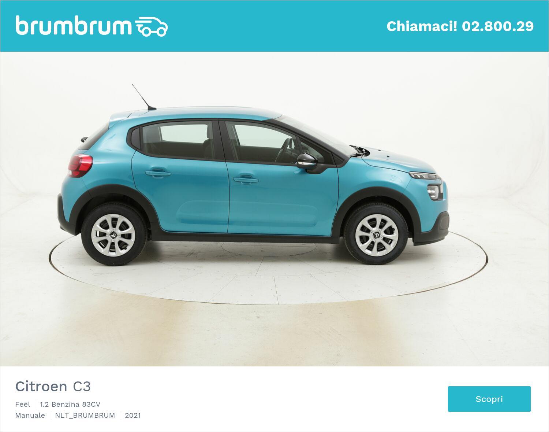 Citroen C3 Feel benzina azzurra a noleggio a lungo termine   brumbrum