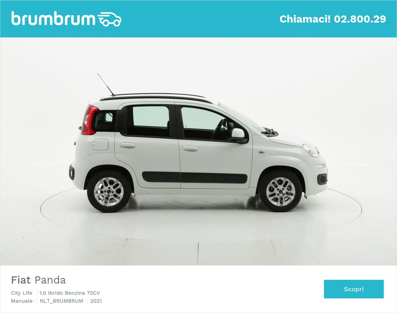 Fiat Panda City Life ibrido benzina bianca a noleggio a lungo termine   brumbrum