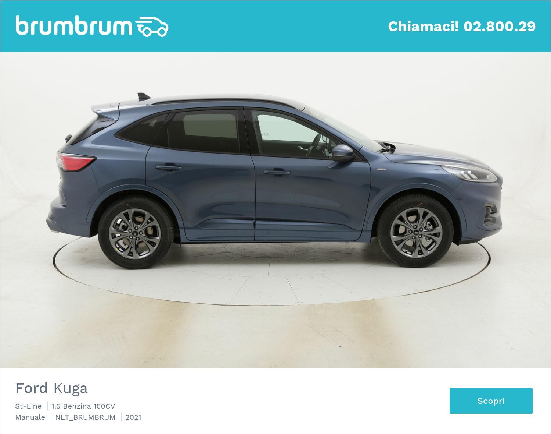 Ford Kuga St-Line benzina azzurra a noleggio a lungo termine | brumbrum