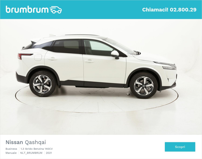 Nissan Qashqai Business ibrido benzina bianca a noleggio a lungo termine   brumbrum